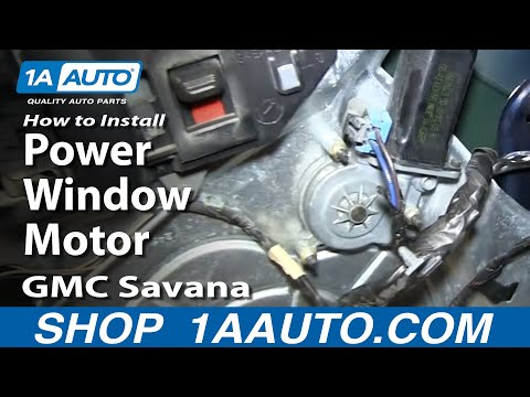 How To Install Replace Power Window Motor GMC Savana Chevy Express