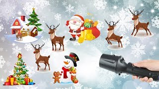 2018 Best Gift For Kids - Handheld Christmas Projector Lights and Flashlight