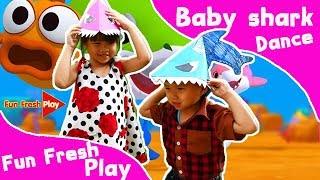 กวินกับเกรซซี่เต้น เบบี้ชาร์ค | Baby Shark Dance | PINKFONG Songs for Children