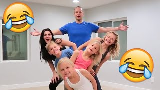 FAMILY GYMNASTICS CHALLENGE | HILARIOUSLY EMBARRASSING