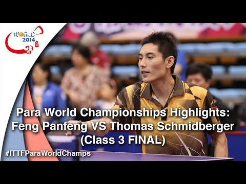 ITTF PTT WC 2014 Highlights: Feng Panfeng VS Thomas Schmidberger (Class 3 FINAL)
