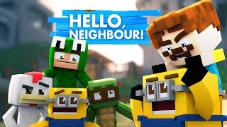 Minecraft Hello Neighbour - MINIONS TAKE OVER THE NEIGHBOURS HOUSE!