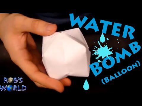 How to Make a Paper Balloon (Water Bomb) - Origami