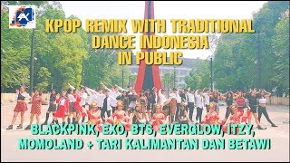 [KPOP MIX TRADITIONAL INDONESIA IN PUBLIC] BTS, BLACKPINK, EXO, MOMOLAND, ITZY, EVERGLOW by SAYCREW