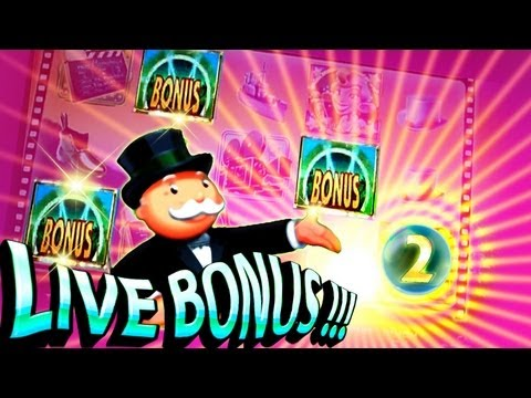 Super Monopoly Money Live Bonuses 5c - Free Spins & Wheel - WMS Slots