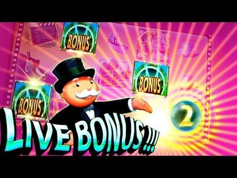 Super Monopoly Money Live Bonuses 5c Free Spins Wheel WMS Slots