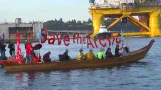 Kayaktivists Blockade Shell