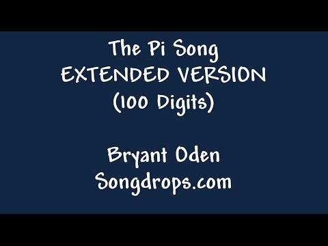 Pi Song: Expert Level. The Pi Song with 100 Digits