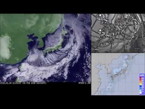"""Meteorological Satellites """"Himawari"""" Satellite imagery East Asia Visible - February 2015"""