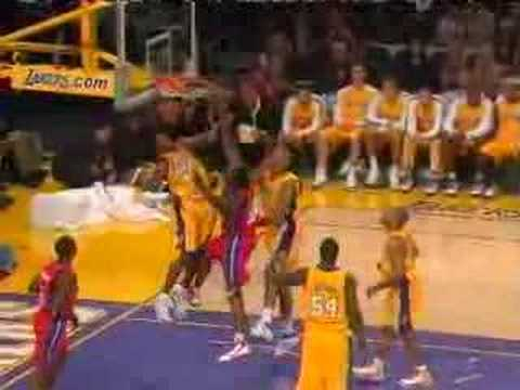 Jason Maxiell posterizes Kobe Bryant and Brian Cook Video