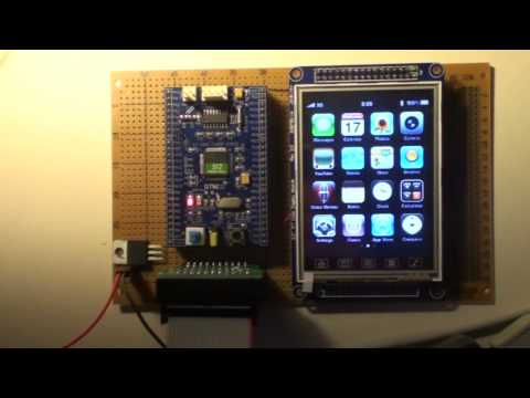 STM32+ILI9320 LCD Demonstration + 3D algorithm
