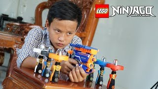 NERF WAR LEGO NINJAGO BATTLE SHOT