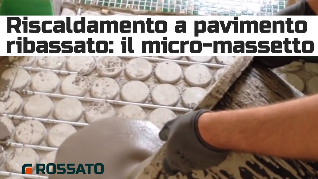 Massetto per impianto radiante ribassato youtube - Asciugatura massetto per piastrelle ...