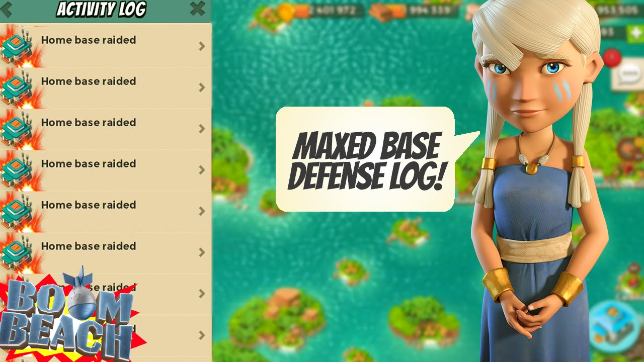 Boom Beach THIS IS WHAT A MAXED BASE DEFENSE LOG LOOKS LIKE ...