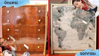 DIY  |  MOBİLYA YENİLEME (RENOVATION OF FURNITURE) #tugceiledegistiriyoruz