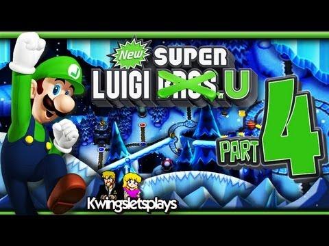 New Super Luigi U - Walkthrough Part 4 Frosted Glacier