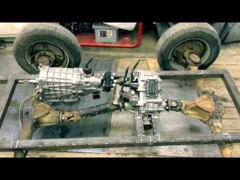 Полноприводная компоновка (переломка). - Самодельный мини трактор
