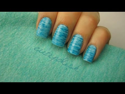 Striped Nail Art (using dental floss!)
