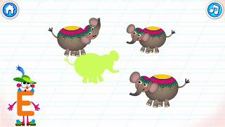 Learn ABC | E Is For ELEPHANT | Games For Kids & Toddler