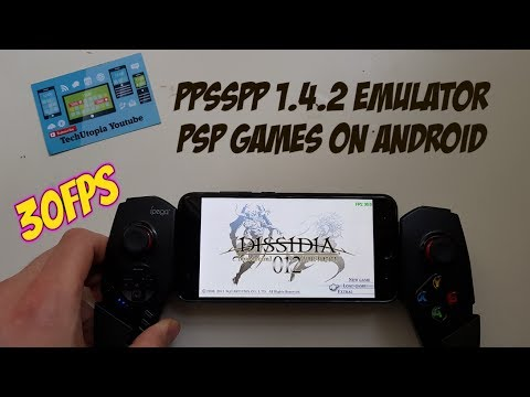 Playing Dissidia: Final Fantasy on Android Smartphone PPSSPP 1.4.2 PSP games 30FPS Full Speed