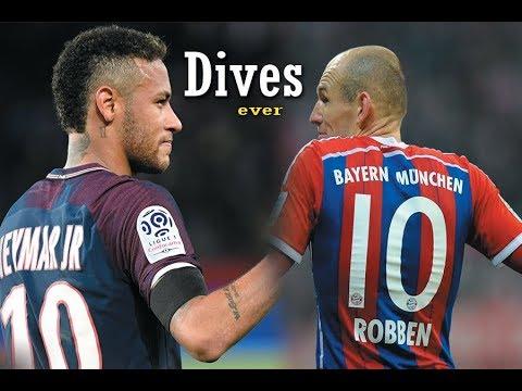Arjen Robben vs Neymar JR: WHO IS THE WORST DIVER?????????