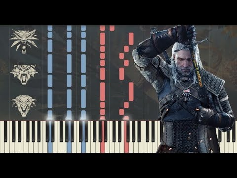 The Witcher 3: Steel for Humans - Synthesia Piano Tutorial & Lyrics + FREE MIDI