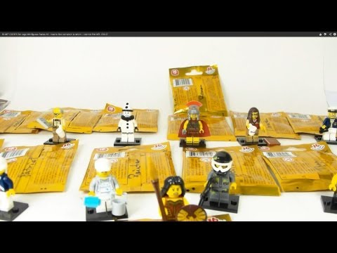 BUMP CODES for Lego Minifigures Series 10 - how to find out which is which - i did not find MR. GOLD
