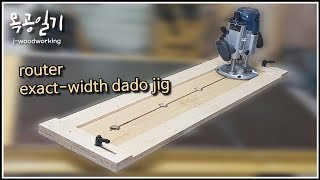 router dado jig for exact-width slots and grooves [woodworking]