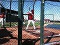 Chris Owings batting practice