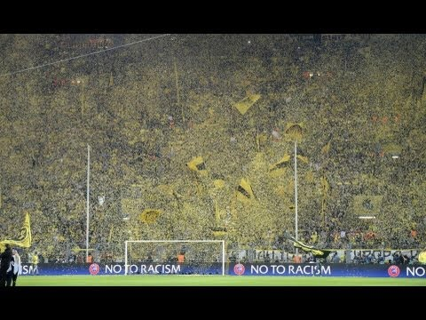 Choreo Champions League Borussia Dortmund - Real Madrid 4:1 Halbfinale BVB semi final 2013