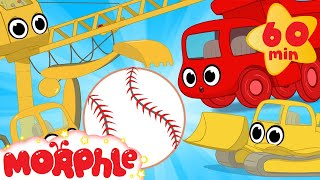 Construction vehicles play baseball! My Magic Pet Morphle Vehicle videos for kids!  from Morphle TV
