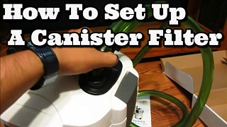How To Set Up A Canister Filter Aquatop cf500 uv