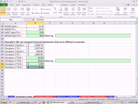 excel finance class 14 financial statement ratio analysis