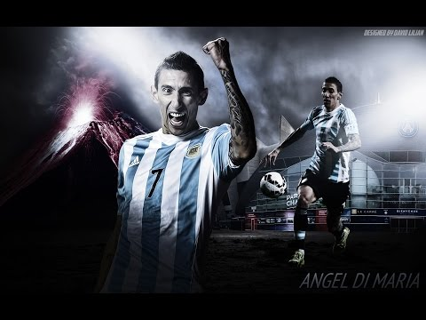 How to Make Sports Wallpaper Designs on Photoshop   Angel Di Maria