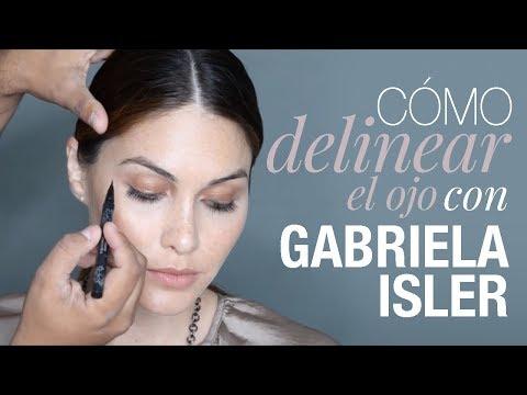 COMO DELINEAR EL OJO INVITADA ESPECIAL, GABRIELA ISLER  MISS UNIVERSO 2013