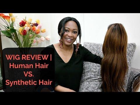 WIG REVIEW   100% Human Hair VS. Synthetic Hair