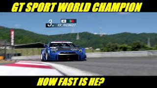 GT Sport How Fast Is The GT Sport World Champion