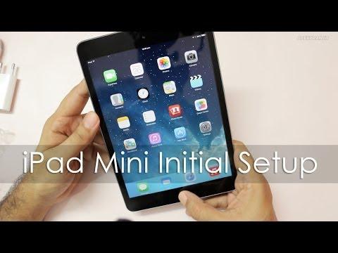 iPad Mini Quick Unboxing & Initial Setup / Enabling Siri