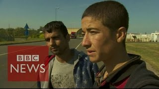 Invasion Calais: Meet the invaders entering the lorries - BBC News