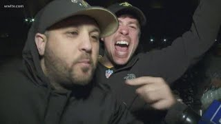 New Orleans Saints fans leave Superdome after comeback win