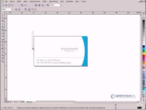 CorelDRAW X3. Tutorial: Projektowanie wizytówki.
