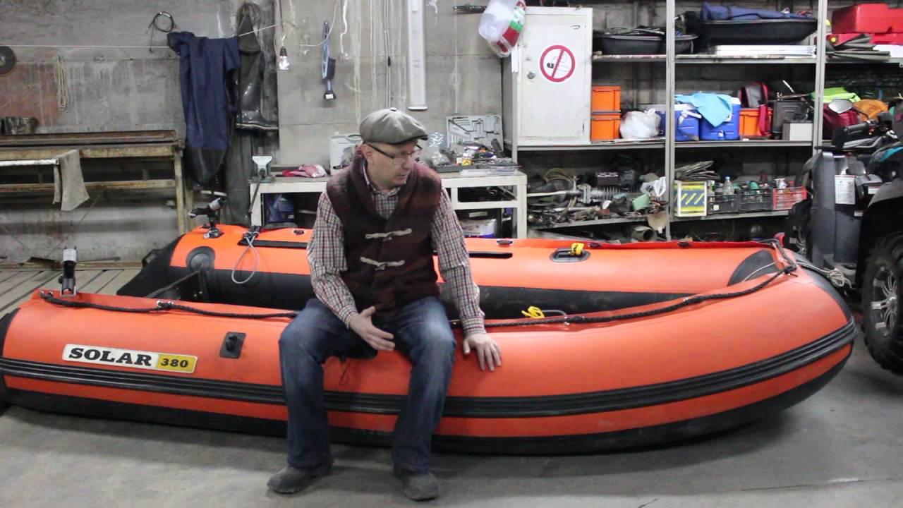 лодки солар 380 нднд с мотором yamaha 9.9 4 такта видео