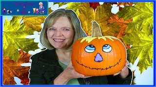 Fall Scarecrow Pumpkin Painting | Grandma and Me