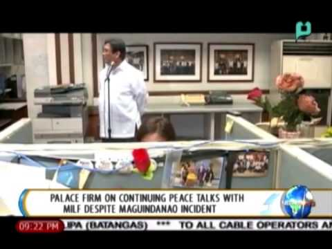 Palace firm on continuing peace talks with MILF despite Maguindanao incident || Jan. 26, 2015