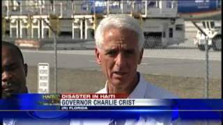 Crist Meets Haitian Evacuees In Sanford