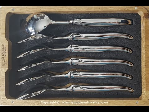 Laguiole Table Spoons - Stainless Steel (Shiny) - Laguiole en Aubrac