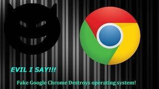 Google Chrome Destroys Computers?! | Fake Google Chrome