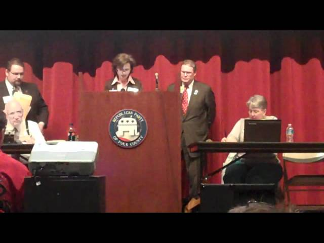 Kim Lehman Explains State Law to Ron Paul Convention Crashers