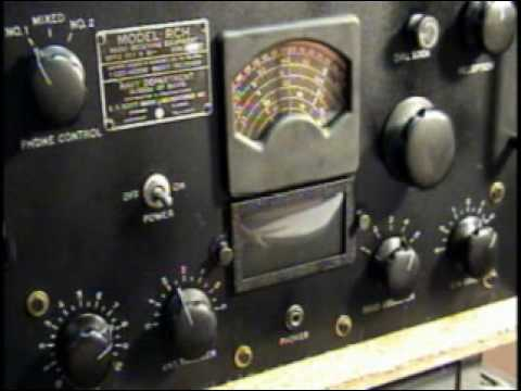 EH Scott RCH Navy Ship Tube Receiver Ham Shortwave Radio Demo