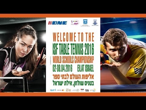 ISF Table Tennis 2016 - World Schools Championship - Day 2